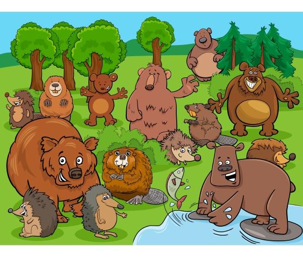 cartoon lustige wilde tiere comic charaktere