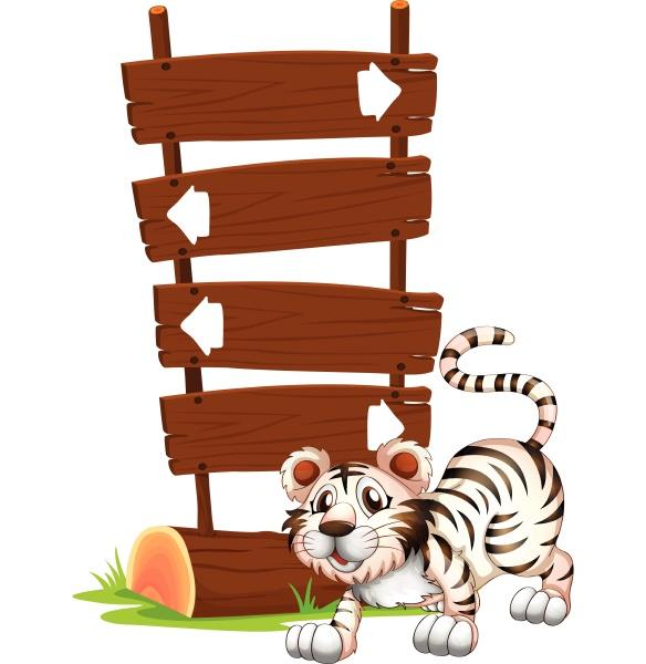 ein tiger in springender position