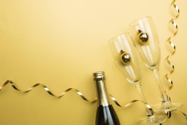 glasses, , sparkling, wine, bottle, - 30497674