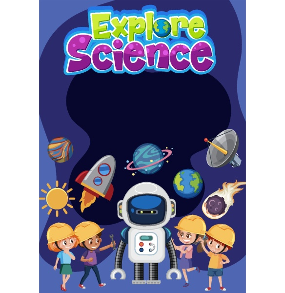 explore, science, logo, with, blank, banner - 30510500
