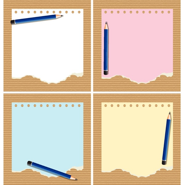 four, color, papers, with, pencil - 30515255