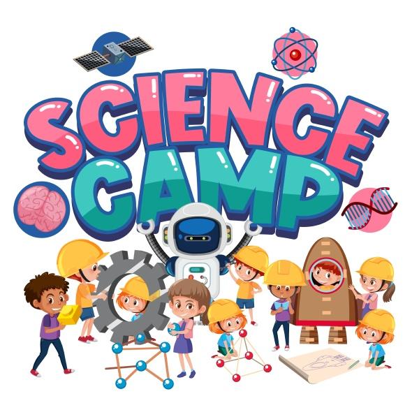 science, camp, logo, mit, kindern, im - 30542668
