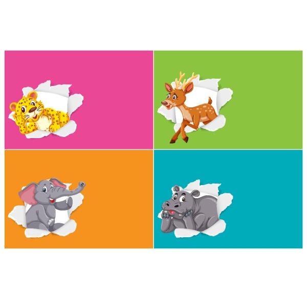 hintergrundvorlagendesign, mit, wildtieren - 30554249