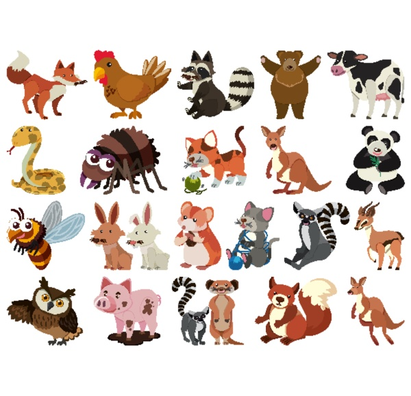 set, of, isolated, objects, theme, animals - 30554640