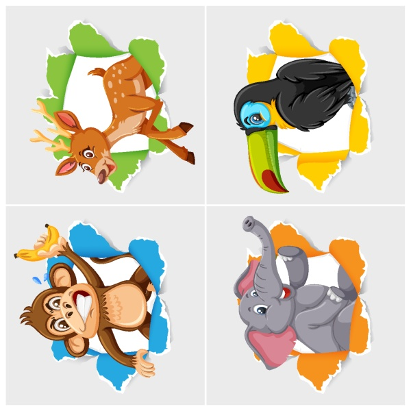background, template, design, with, wild, animals - 30562109