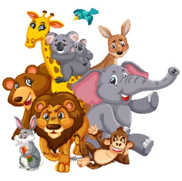 many, wild, animals, with, happy, face - 30565071