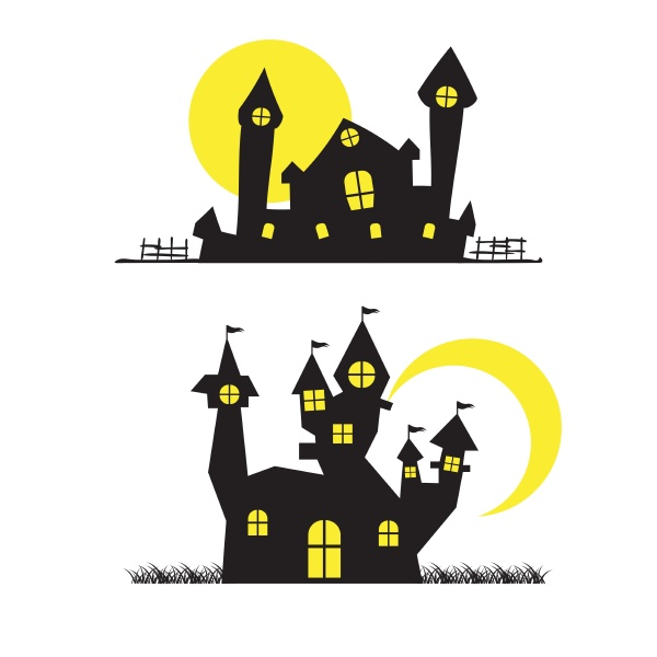 haus halloween hintergrund vektor illustration