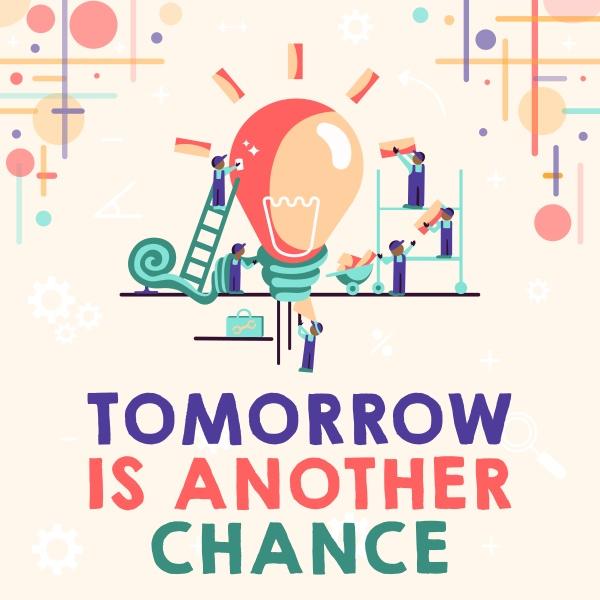 handschrift, zeichen, tomorrow, is, another, chance. - 30572506