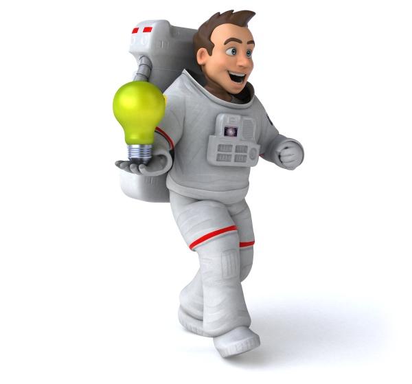 fun, astronaut, -, 3d, illustration - 30583325
