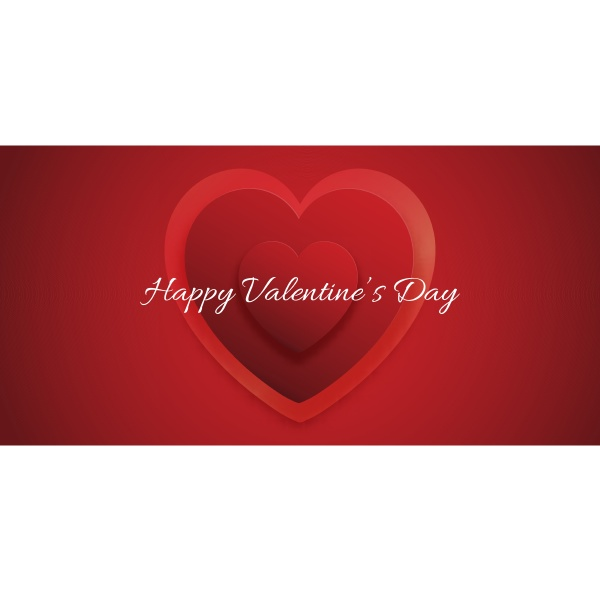 dekorative valentinstag banner design 0501