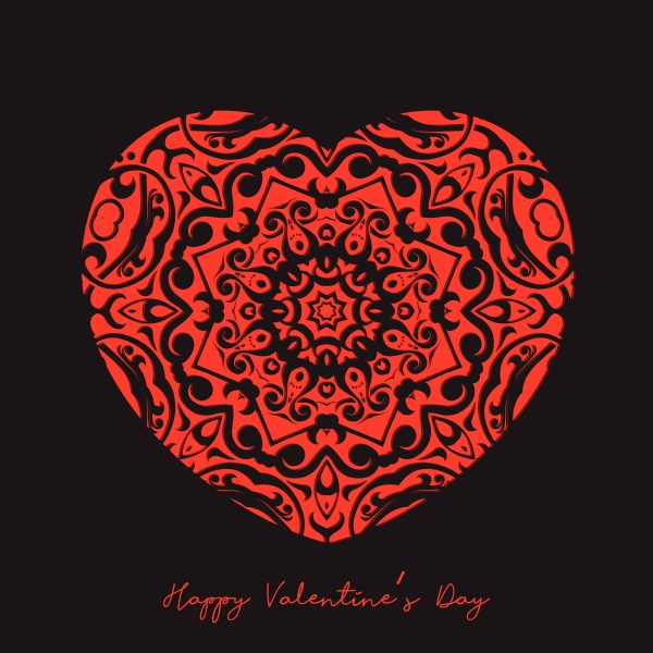 dekorativer, herzhintergrund, zum, valentinstag, 1001 - 30594481