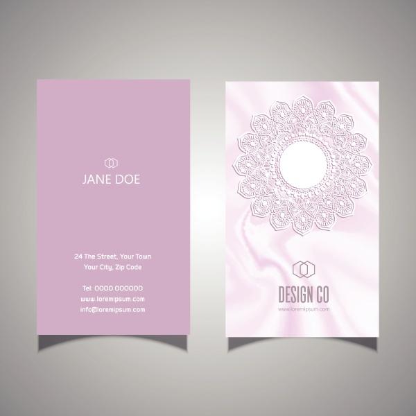 elegante, rosa, spitze, design, visitenkarte, 1908 - 30595648