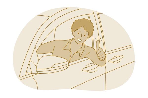 neuwagenkauf gluecklicher besitzer des neuen autokonzepts