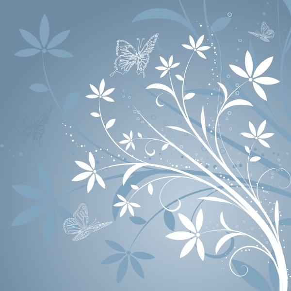 abstrakter floraler hintergrund