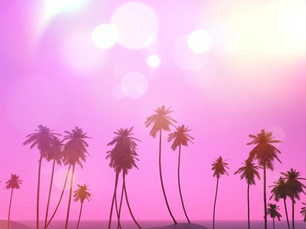 3d, palm, trees, landscape, with, a - 30632601
