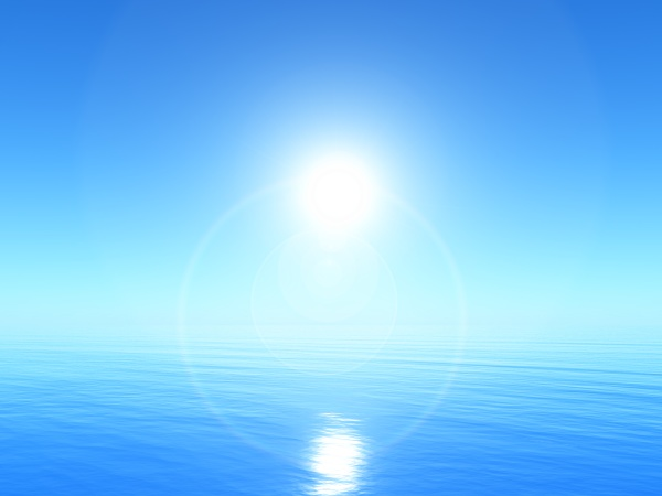 3d, tranquil, ocean, landscape, with, bright - 30656376