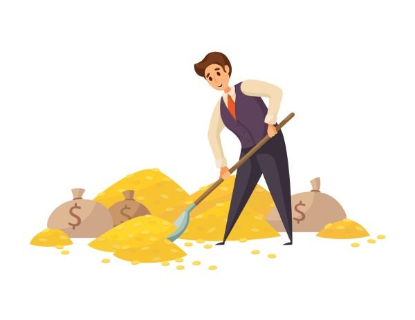 geld erfolg kapital gewinn reichtum geschaeftskonzept