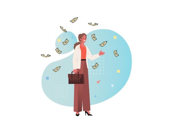 businesswoman, business, female, money, cash, dollar - 30667429