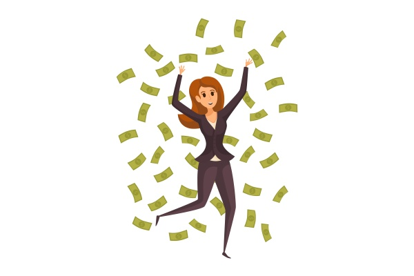 geld, erfolg, profit, menschen, reichtum, geschäftskonzept. - 30667238