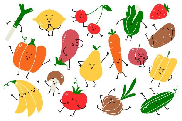 veganes doodle set