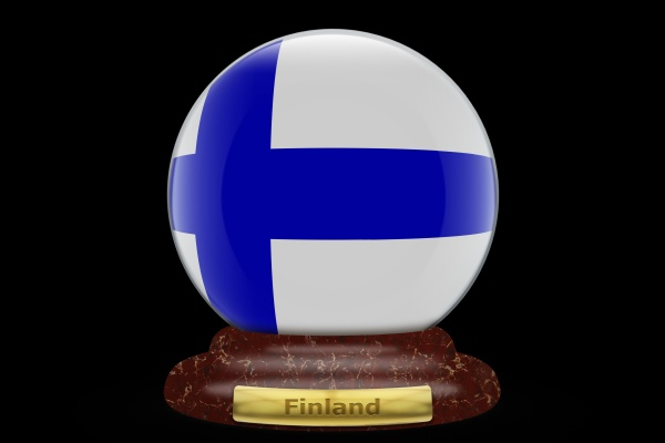 3d, flag, of, finland, on, snow - 30682176
