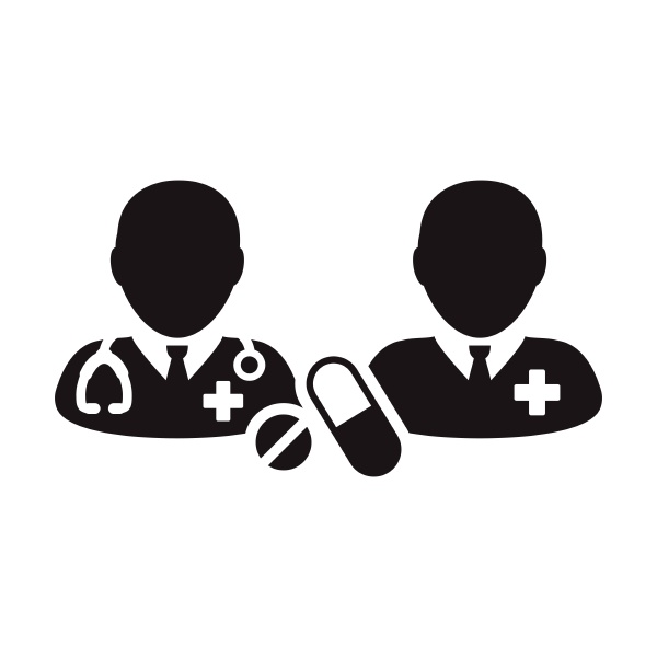 doctor, icon, with, patient, vector, with - 30709927