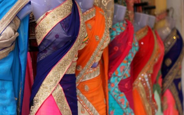 indische, damenmode, bestickter, saree, oder, sari - 30728727