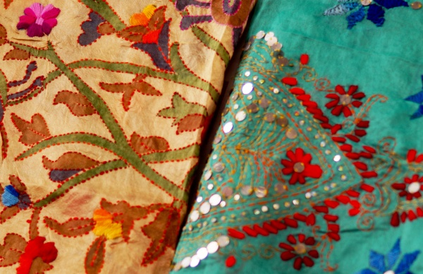 view, of, indian, woman, wear, embroidered - 30729522