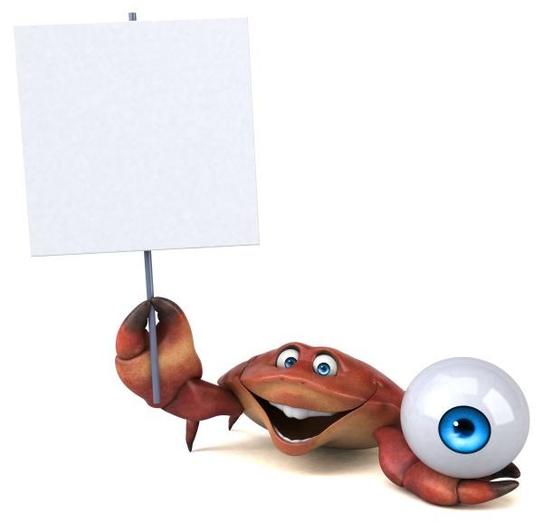 lustige krabbe 3d illustration