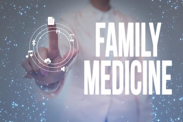konzeptionelle anzeige familienmedizin geschaeftsuebersicht entwickelt um