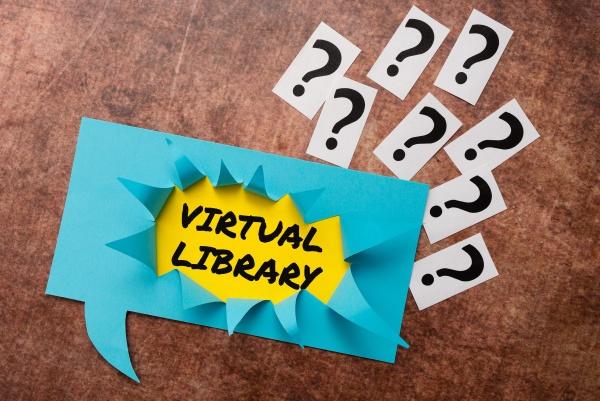 schreiben von anzeigetext virtuelle bibliothek wort
