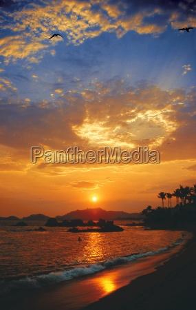 sonnenuntergang in acapulco