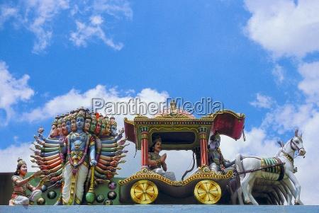 hinduistischer tempelfries