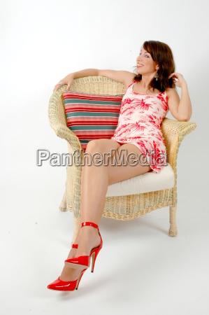 jen red high heels