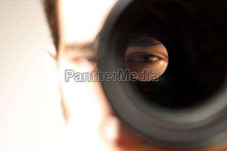 blick durch objektiv