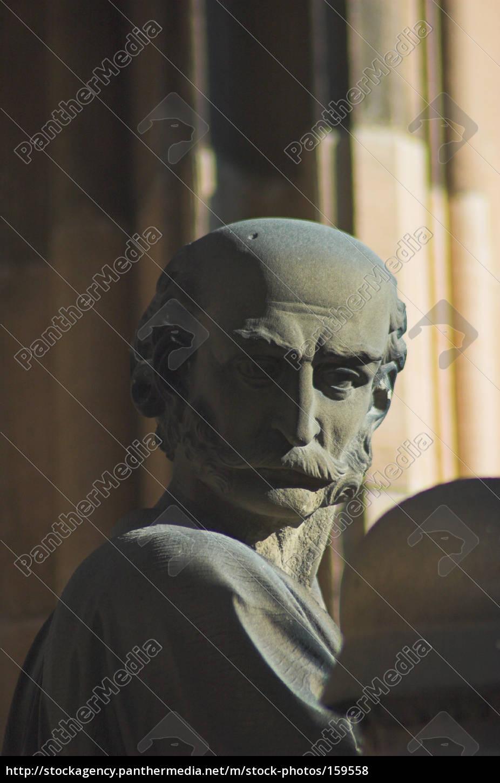 Gesichter aus stein und metall ii stockfoto 159558 for Gartendeko aus stein und metall