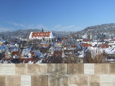 schwaebisch gmuend winter panorama