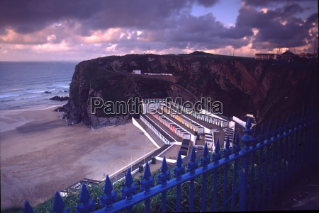 newquay bathing bay in winter