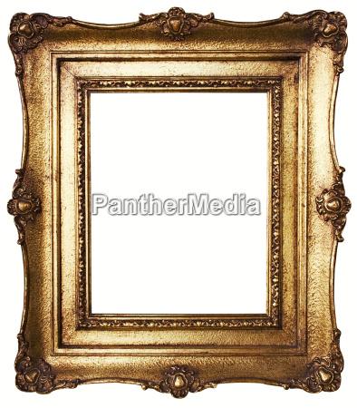 trazado de recorte marco barroco de