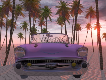 american dreamcar sunset