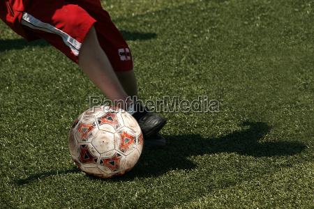 fussball kicker in rot