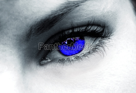 dark blue eye