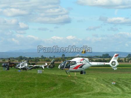 fernsicht mit helikopter