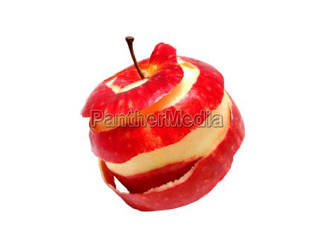 geschaelter apfel