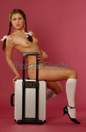 girl on suitcase