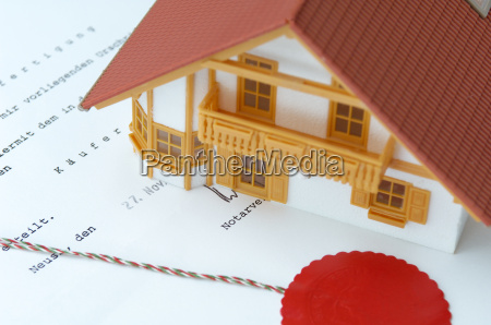 model house on notarised purchase agreement