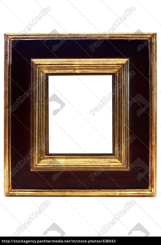 Schwarz-goldener Rahmen - Lizenzfreies Bild - #438943 - Bildagentur ...