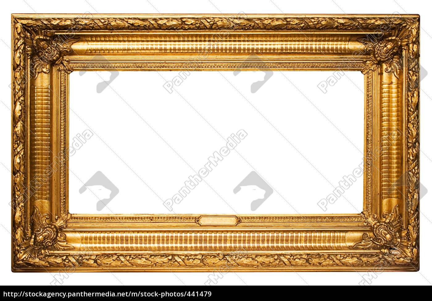 Goldener Rahmen mit Textfeld - Lizenzfreies Bild - #441479 ...