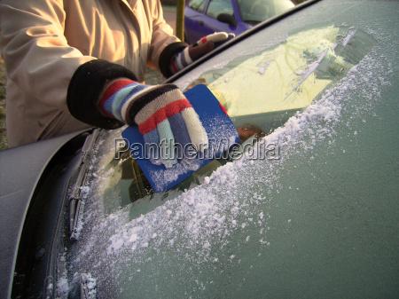 danger winter cold car automobile vehicle