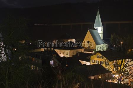 bischofshofen bei nacht